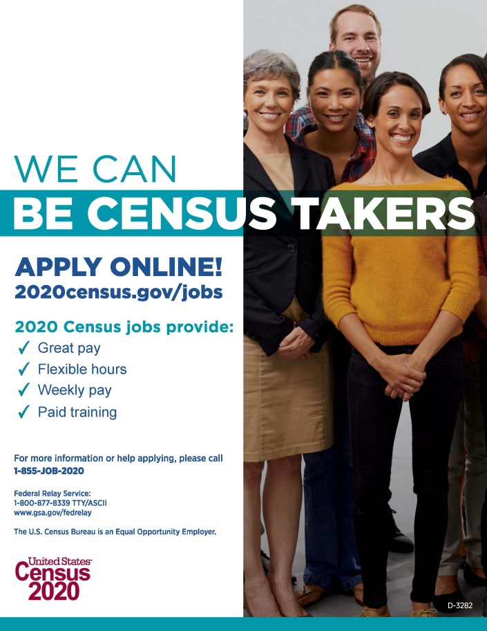 2020 Census Recruitment Posters 171 State Data Center Sdc